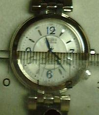 腕時計の直径を測るべく尺を当てました.